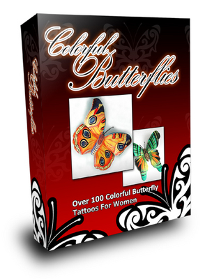 Product picture Over 100 Rare And Beautiful Colored Butterfly Tattoos